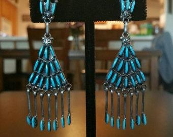 Zuni Needle-Point Cluster Earrings