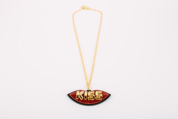 Sale KISS Acrylic Necklace