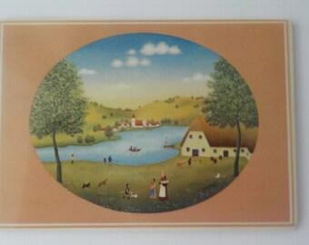"Vintage Villeroy & Boch Vilbo Card Porcelain 1982 ""Summer"" by Wilma Langhammer"