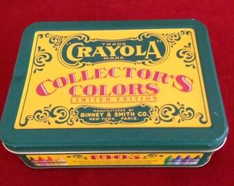 Vintage Crayola Crayon Tin