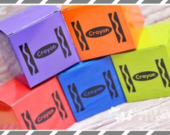 Crayon Birthday Party Favors-Crayon Party Supplies-CrayonFavor Box