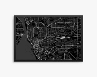 Buffalo City Street Map, Buffalo New York USA, Modern Art Print, Office Decor, Buffalo Decor, Buffalo Map, Buffalo Poster, Buffalo Gift Idea