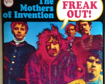 """Frank  Zsppa and The Mothers of Inverntion """"  FREAK OUT"""" 1966 LP"""