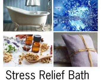 Stress Relief Bath, Stress Relief Oils, For Bath and Body Stress Relief, Aromatherapy Stress Relief, Natural Stress Relief Bath -- 16oz