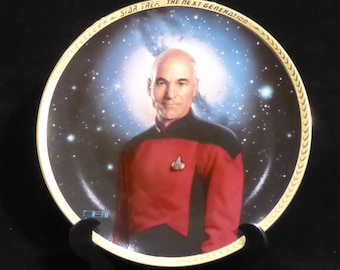 Star Trek - The Next Generation - 5th Anniversary collection - Captain Picard (plate #1850A) - first batch low number