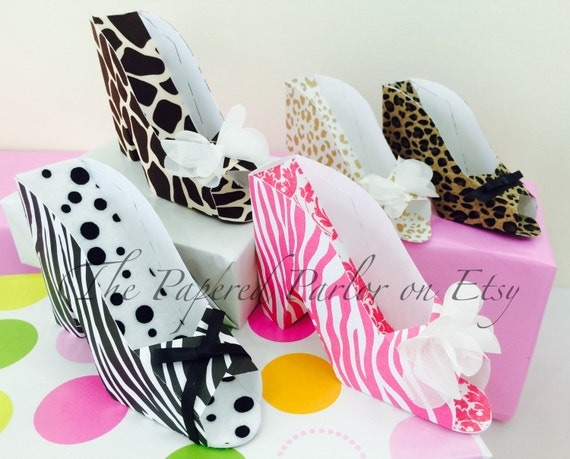 High heel shoe party favors bridal shower giraffe