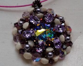 "pendant ""Violetta"" crystal swarovski"