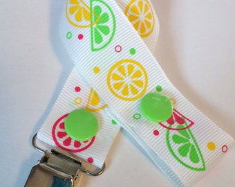 Fruit Slices Pacifier Clip