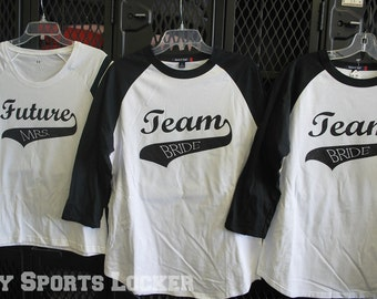 Team Bride Bridal Party Baseball Tees