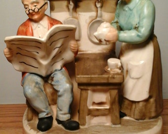 Sankyo Home Sweet Home Musical Box Figurine