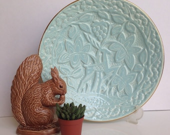 Crown Devon Decorative Wall Plate with Elegant Deer and Foliage Textured Pattern