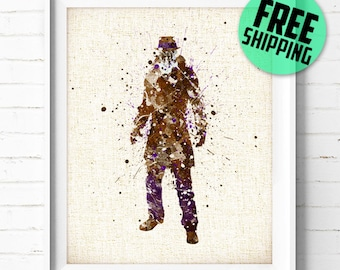 Watchmen, Rorschach, DC Comics, Superhero, Poster, Watercolor Painting, Wall Art Print, Home Decor, Kids Wall Decor, Nursery Decor, Gift, 48