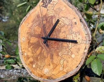 Old stump birch slice clock - unwind and relax, rustic wall clock, Unique Wall Clock,  Rustic Home Decor,