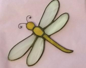 Stained Glass Dragonfly Suncatcher, Glass Dragonfly, Handmade, Window Decoration