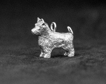 Sterling Silver Norwich Terrier Charm, Silver Norwich Terrier, Norwich Terrier Charm, Norwich Terrier Pendant, Norwich Terrier Necklace
