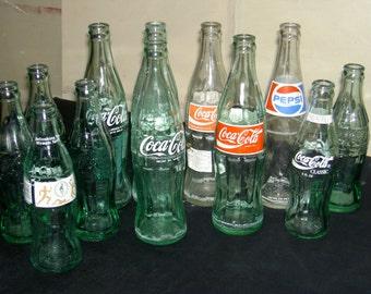 vintage Pepsi Cola, Coca Cola bottles