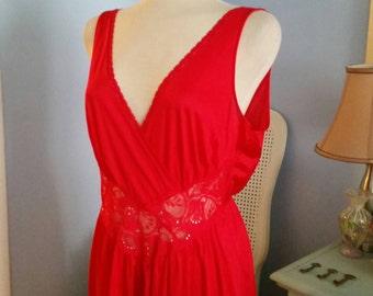 Red Vintage Nightgown - Loungewear