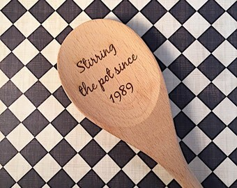 Custom Engraved Wooden Spoons - Personalized Wooden Spoon - Housewarming Gift - Newlywed Gift - New Home Gift - Laser Engraved