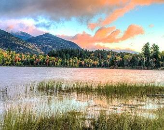 Lake Placid, Adirondack Sunrise Photography, Whiteface Mountain, Adirondack Mountains, Landscape Photograph, Lake Photo, Adirondack Fine Art