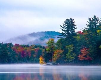 Adirondack Autumn Print, Fine Art Photography, Mountain Photograph, Art Print, Adirondack Autumn Photography, Nature Photography