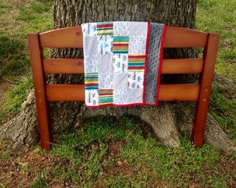 Planes, Boats & Automobiles Baby Boy Quilt