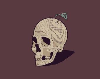 Wood Grain Skull