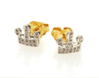"""Earrings """"White Crown"""""""