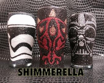 Star wars glitter glasses