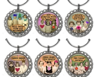 Funny Wine Charms, Hostess Gift, Wine Lover Gift, Wine Accessories, Wine Charm