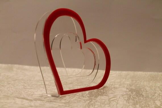 Acrylic napkin holders Housewarming gift Wedding accessories Red heart holder Table Decoration Kitchen Decor Tableware Birthday table decor