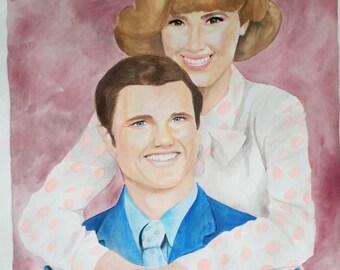 Custom 20x24 Watercolor Portraits