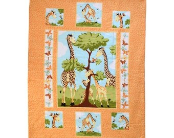 Baby Blanket - Baby Comforter - Baby Quilts - Toddler Blanket - Toddler Comforter - Toddler Quilts - Giraffe Family *R28*