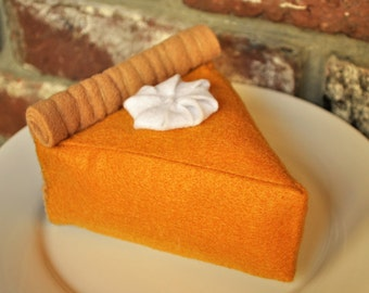 Felt Pumpkin Pie - Felt Food for Pretend Play