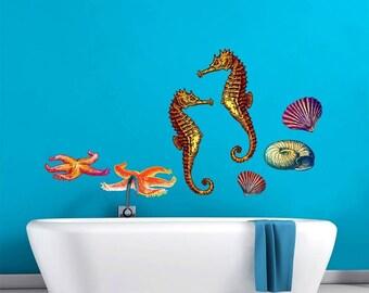 Sea Life Underwater World Scene Wall Decal