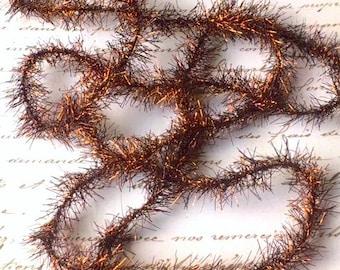 Vintage Style TINSEL GARLAND - COPPER Metallic - 5 Feet Long