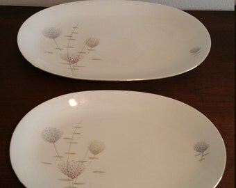 Mid Century Serving Platters made in Germany by Baruether Bavaria
