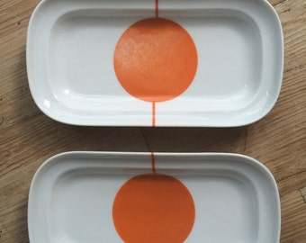 Retro side serving dishes
