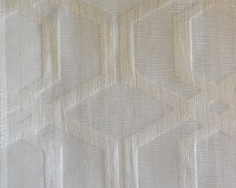 Geometric Pattern Fabric in Cream with Gold Shade