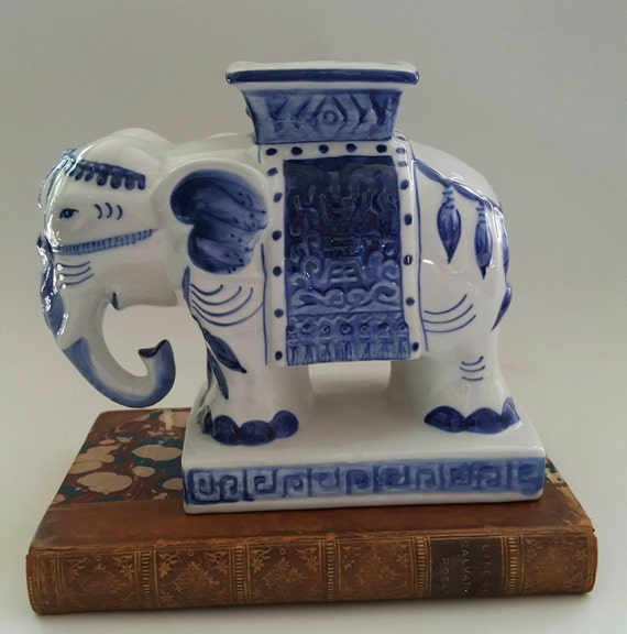 Blue And White Elephant Vase Chinoiserie Chic