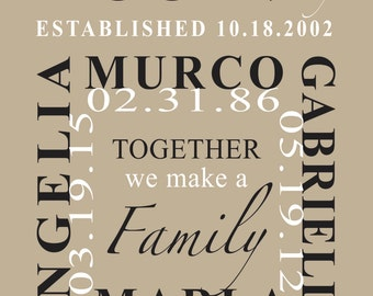 Family Name Picture Frame