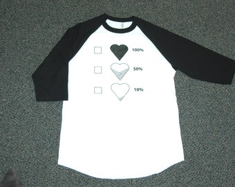 Black white baseball T Size M