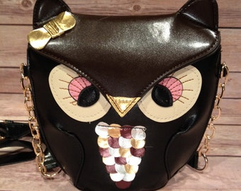 Small Owl shoulder bag purse child teen or adult