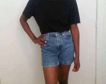 Vintage Calvin Klein Denim High Waist Shorts, Size X-small,  Dark Wash Shorts