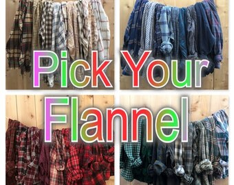 Oversized Vintage Flannels, all sizes S M L XL XXL 3X, B grade plaid flannel shirts, comfy worn in, team shirts,  bridesmaids gift