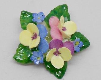 Vintage China Flower Brooch