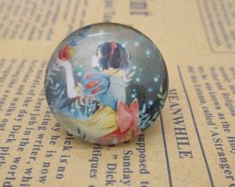 Princess Photo Glass Cabochons,Handmade Glass Cabochon, Image Glass Dome Bead 12mm 14mm 16mm 18mm 20mm 25mm 30mm-br1004-B