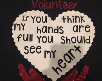 School volunteer full heart and hands
