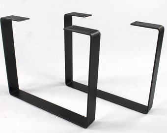 Set of 2 Heavy Duty Steel Legs, Coffee Table Legs, Industrial Table Legs, Bench Legs