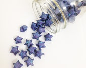 48 Galaxy Swirl Origami Stars: Outer Space - Celestial - Deep Space - Cosmos - Baby Blue - Purple - Mini Stars - Origami Star Decorations