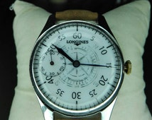 Vintage Watch LONGINES Caliber 17L Oversize Wristwatch Military Style Orologio Reloj Montre